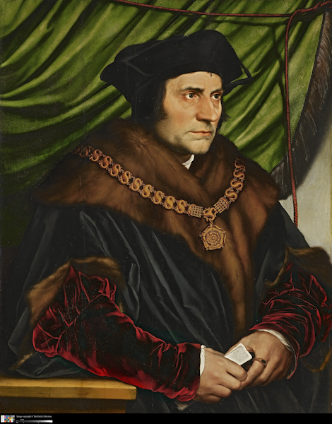 Hans Holbein portrait Thomas More