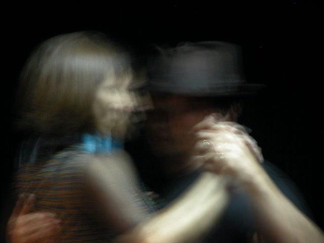 Two tango dancers in Buenos Aires