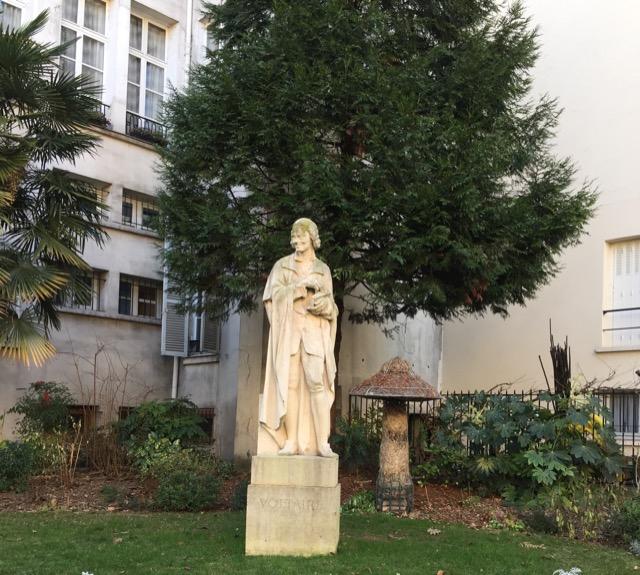 Voltaire statue Paris